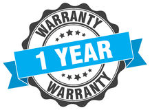 1 year warranty stamp. Sign. seal Royalty Free Stock Images