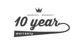 10 year warranty. Black stamp vector Royalty Free Stock Photography