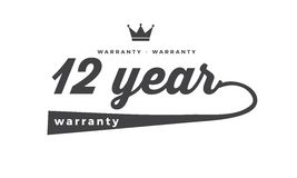 12 year warranty. Black stamp vector Royalty Free Stock Images