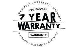 7 year warranty. Black stamp vector Royalty Free Stock Photo