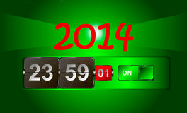 2014 year watch. He clock shows the approach of 2014 Royalty Free Stock Image