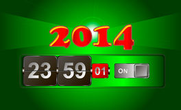 2014 year watch. He clock shows the approach of 2014 Stock Image