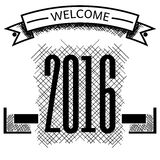 2016 year welcome vector sketch. Graphic Royalty Free Stock Image