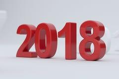 2018 year on white background. Soft focus Stock Photo