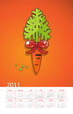 Year of the white rabbit. Gift carrots Royalty Free Stock Image