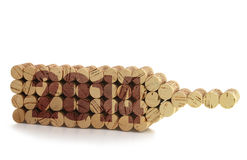 2014 year. On wine corks Stock Photography
