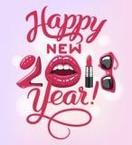 2017 year woman Royalty Free Stock Photos