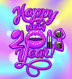 2017 year woman Stock Image