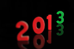 The year 2013 in wooden numbers together Stock Image