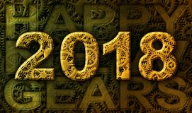 2018 Happy New Gears Royalty Free Stock Photography