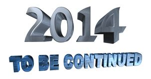 Year 2014. With the words to be continued Stock Photo
