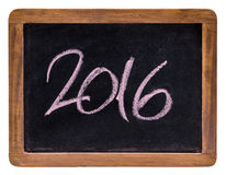 Year 2016 written on a slate Royalty Free Stock Photo
