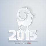 Year 2015 year of Goat zodiac. Year 2015 year of Goat. Year 2015 zodiac sign is Goat Animal! Modern elegant design suitable for new year greeting card, postal Vector Illustration