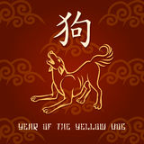 Year of the Yellow Dog Royalty Free Stock Images