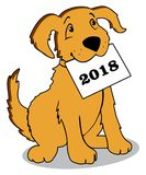 2018 year of the yellow dog Stock Image