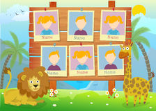 Yearbook for kindergarten with animals Stock Images