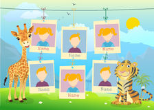 Yearbook for kindergarten with animals. Vector stock illustration