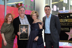 Yeardley Smith, Nancy Cartwright, Matt Groening, Hank Azaria Stock Image