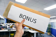 Yearly bonus for the employee Royalty Free Stock Image