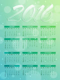 2016 Yearly Calendar design for New Year celebration. Royalty Free Stock Image