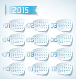2015 Yearly Calendar. Sticker labels design illustration Royalty Free Stock Photography