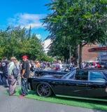 Yearly car show at Green Lake, Washington royalty free stock photo