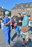 Yearly carnival in Nivelles, Belgium Stock Photos