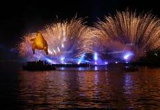 Yearly Great Dragons Parade Royalty Free Stock Photo