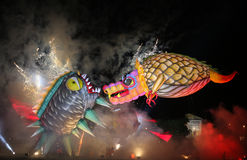 Yearly Great Dragons Parade Stock Image