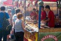 The yearly Leskovac Grill festival Stock Images