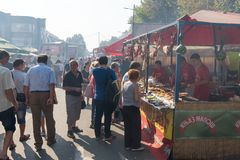 The yearly Leskovac Grill festival Royalty Free Stock Photography