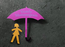 Yearly Mammogram concept Stock Images