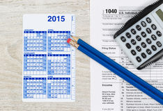 Yearly Tax Preparation Time Royalty Free Stock Photos