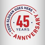 45 Years Anniversary Celebration Design Template. Anniversary vector and illustration. Forty five years logo. 45 years anniversary celebration design template vector illustration
