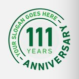 111 Years Anniversary Celebration Design Template. Anniversary vector and illustration. 111 years logo. 111 years anniversary celebration design template. 111 stock illustration