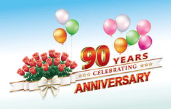 90 years anniversary Stock Photo