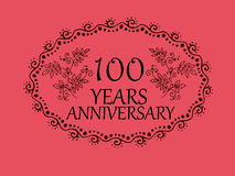 100 years anniversary card. 100 anniversary royal logo vintage design card element stock illustration