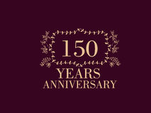 150 years anniversary card. 150 anniversary royal logo vintage design card element Royalty Free Stock Image