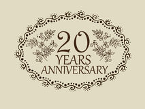 20 years anniversary card Stock Photos