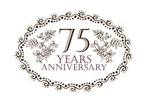 75 years anniversary card Royalty Free Stock Images