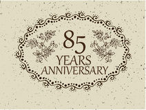85 years anniversary card Stock Photography
