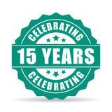 15 years anniversary celebrating icon. 15 years anniversary celebrating vector icon Royalty Free Stock Photos