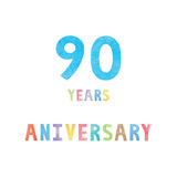 90 years anniversary celebration card Royalty Free Stock Photography
