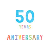50 years anniversary celebration card Stock Photo