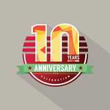 10 Years Anniversary Celebration Design Stock Images