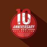 10 Years Anniversary Celebration Design. Stock Image