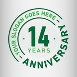 14 Years Anniversary Celebration Design Template. Anniversary vector and illustration. Fourteen years logo. 14 years anniversary celebration design template royalty free illustration