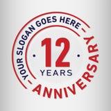 12 Years Anniversary Celebration Design Template. Anniversary vector and illustration. Twelve years logo. 12 years anniversary celebration design template vector illustration