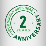 2 Years Anniversary Celebration Design Template. Anniversary vector and illustration. Two year logo. 2 years anniversary celebration design template. Two years royalty free illustration