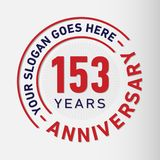 153 Years Anniversary Celebration Design Template. Anniversary vector and illustration. 153 years logo. 153 years anniversary celebration design template. 153 vector illustration